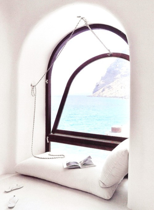Reading Nook, Santorini, Greece