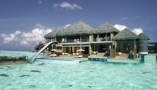 Second Story Waterslide, Beach House, The Maldives