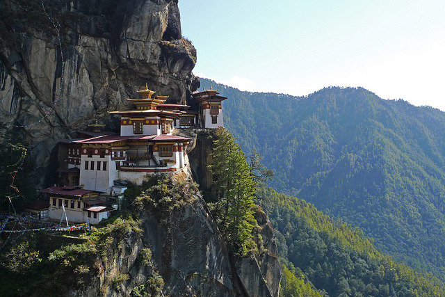 Taktsang Palphug Monastery , a prominent Himalayan Buddhist sacred site and temple complex, located in the cliffside of the upper Paro valley,...
