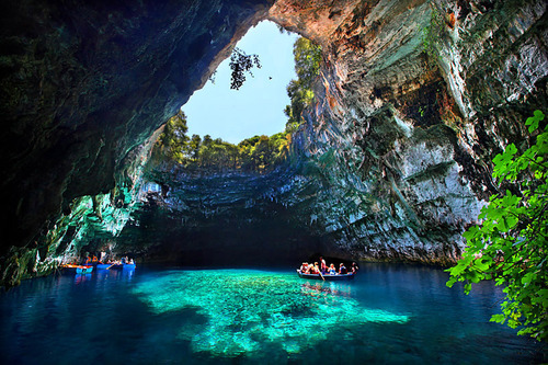 Melissani Lake and Drogarati Cave,  Kefalonia Island, Greece