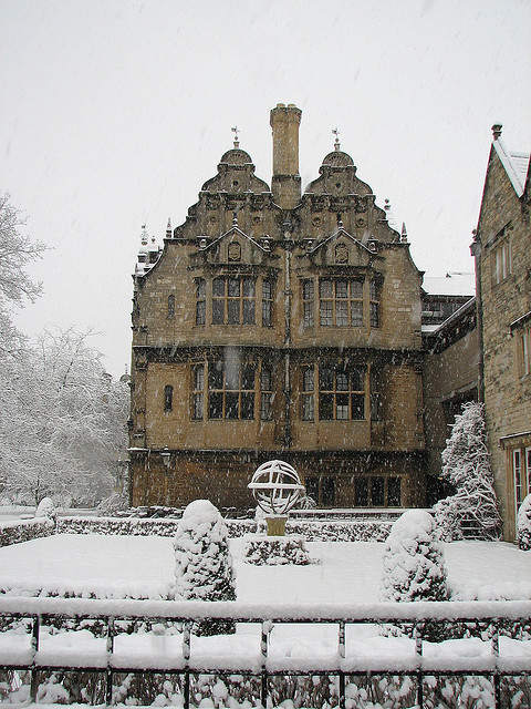 Snowy Day, Trinity College, Oxford, England