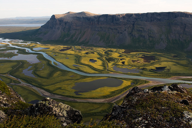 The Rapa valley in Sarek national park, northern Sweden.