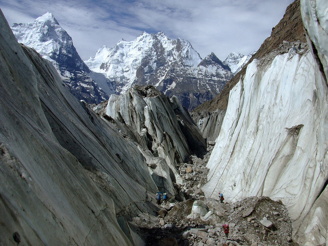 Kunyang glacier - Karakoram Mountains, Pakistan.