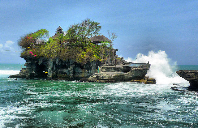 by Asiacamera on Flickr.Tanah Lot Temple - Bali, Indonesia.