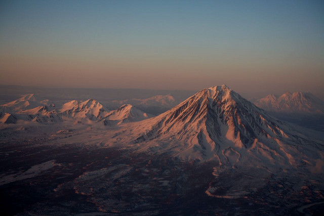 by nicointhebus on Flickr.A typical landscape in far-eastern Russia - Volcano Koryaksky, Kamchatka Peninsula.