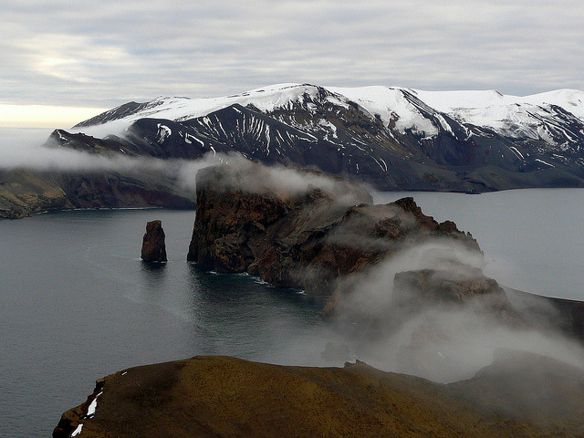 by b00nj on Flickr.Deception Island, Antarctica.