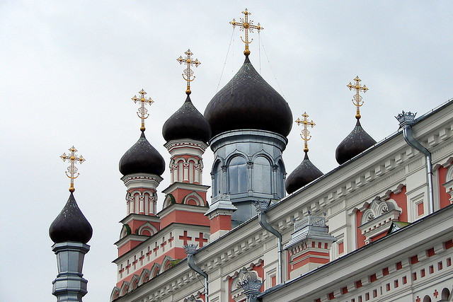 by Frogdeck on Flickr.Towers of The Holiest Mother orthodox church in Hrodna, Belarus.