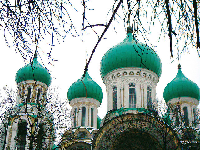 by kimbar on Flickr.Church of St. Michael and St. Konstantine  in Vilnius, Lithuania.