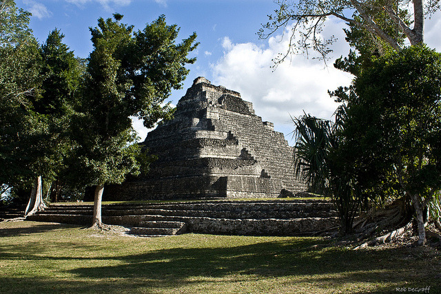 by Rob DeGraff on Flickr.Temple to the Sun god, Mayan ruins at Chacchoben - Yucatan, Mexico.