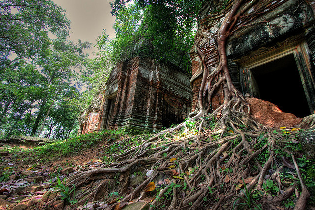 by Bob Lawlor on Flickr.Prasat Pram temples in Koh Ker, former capital of the khmer empire, Cambodia.