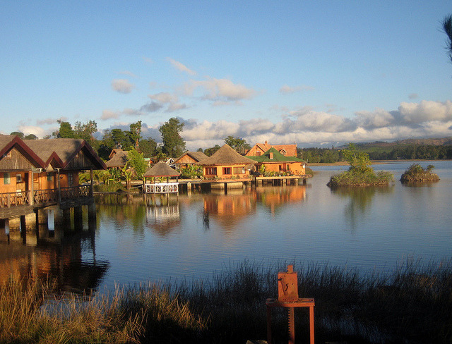 by MUESCA61 on Flickr.Houses on the lake in Fianarantsoa, Madagascar.