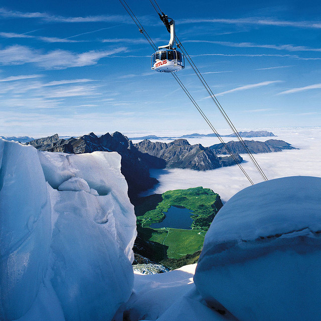 by Engelberg Titlis on Flickr.Cableway Gondola to Mount Titlis in Engelberg, Switzerland.