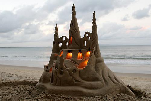 Illuminated Sand Castle, Rio De Janerio