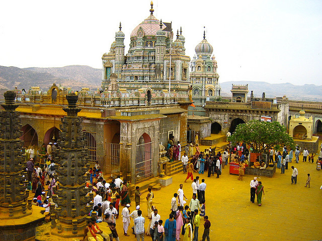 The main temple of god Khandoba in Jejuri, India
