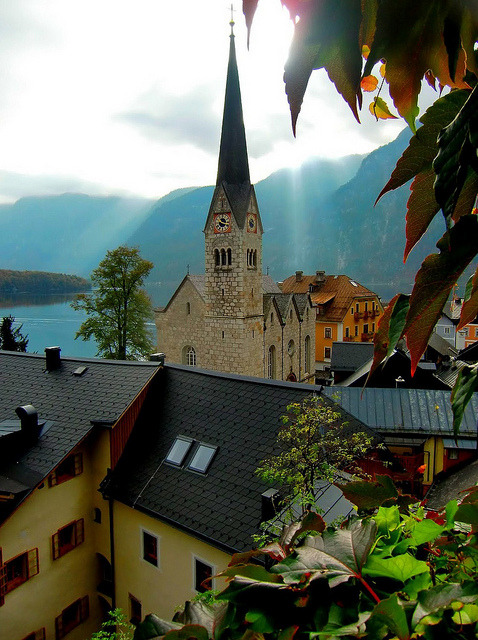 Hallstatt Christuskirche in the Salzkammergut region of Austria
