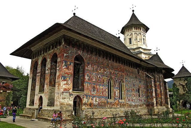Moldovita monastery, a Unesco Heritage Site in Bucovina, Romania