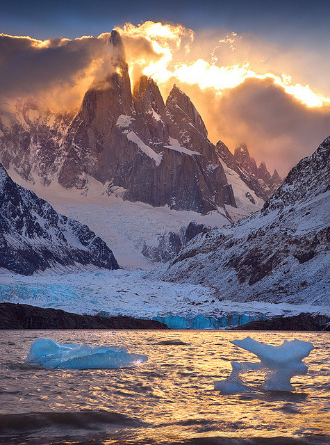 Fire and Ice, Laguna Torre, Patagonia, Argentina