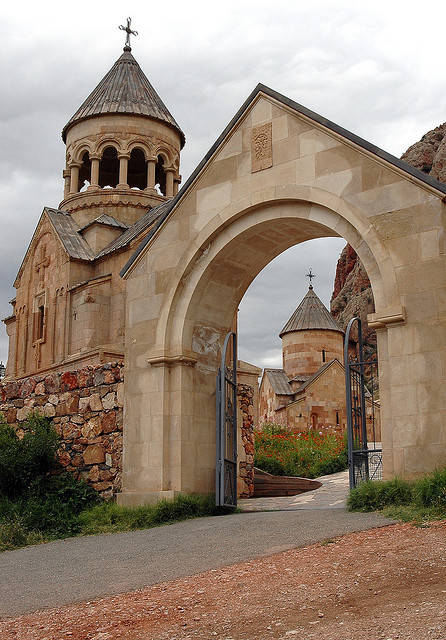 Entrance to Noravank Monastery, a Unesco Heritage Site in Armenia.