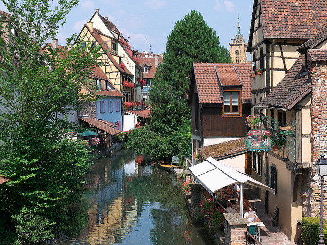 Along the Colmar canals, Alsace, France