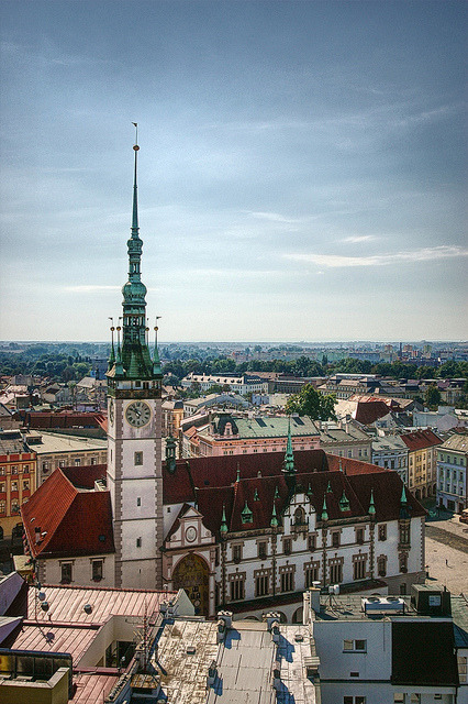 View from the Church of Saint Maurice, Olomouc, Czech Republic