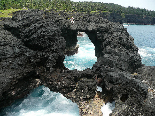 Volcanic beach at Ilheu das Rolas, Sao Tome and Principe