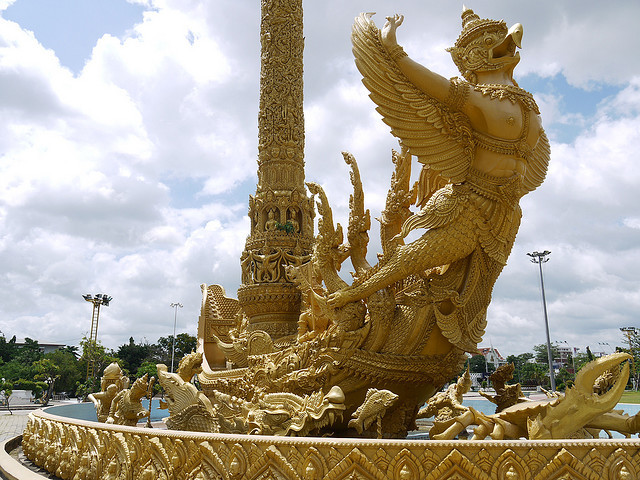 Candle Sculpture in Thung Si Muang Park, Ubon Ratchatani, Thailand