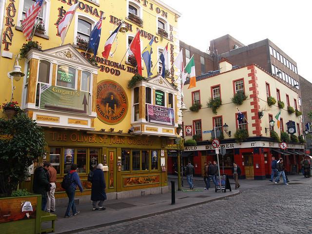 Auld Dubliner & Oliver St. John Gogarty Pub in Dublin, Ireland