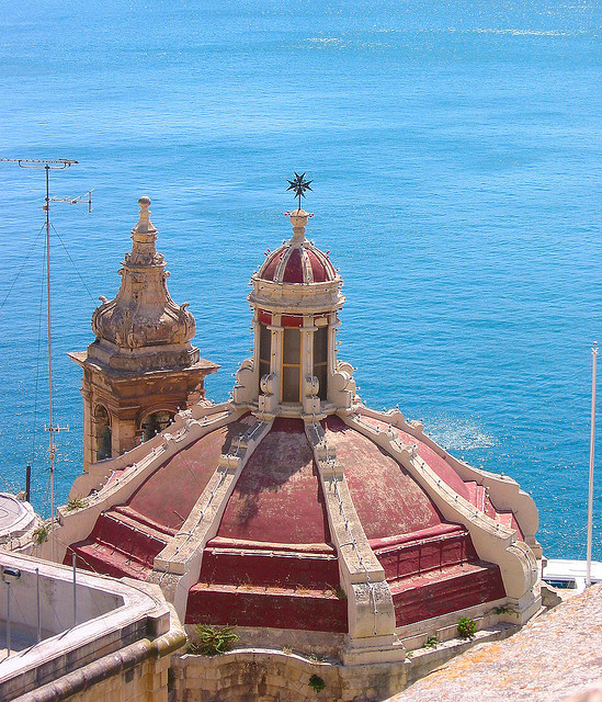 A view from Santa Barbara bastions in La Valletta, Malta