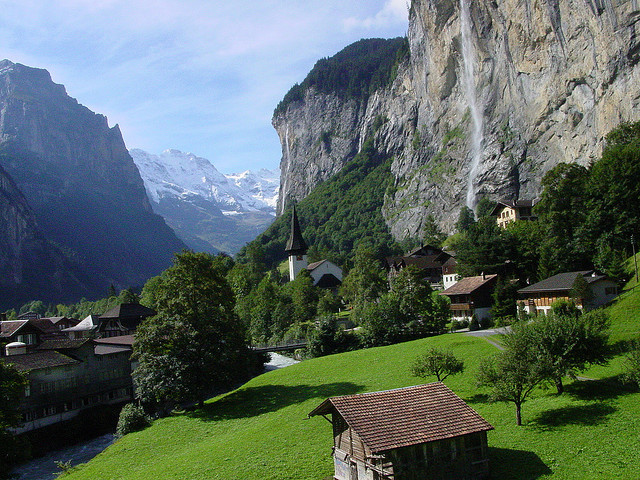 Summertime in Lauterbrunnen valley, Bern Canton, Switzerland