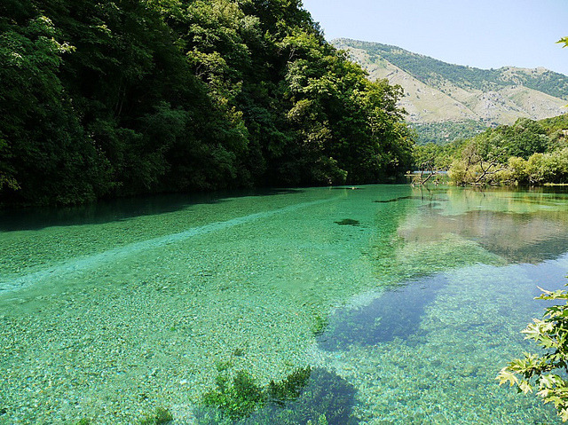 The Blue Eye karstic spring near Saranda, Albania