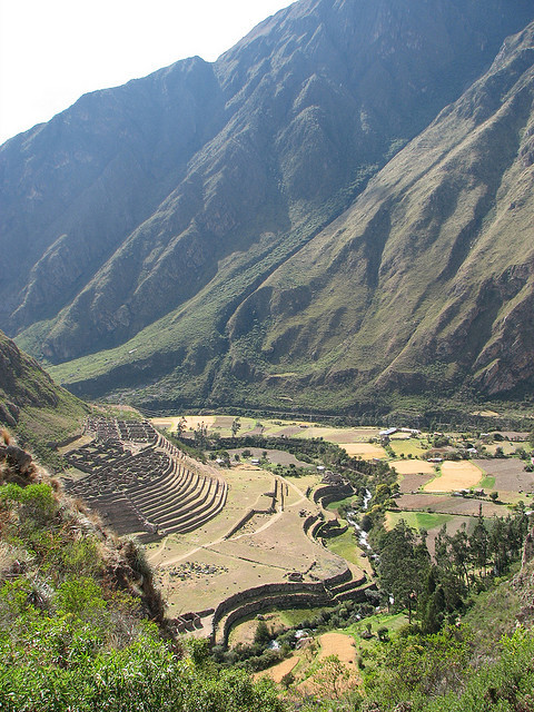 Patallacta Ruins on the Inca trail, Peru