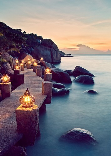 Seaside Lanterns, Ko Tal, Thailand