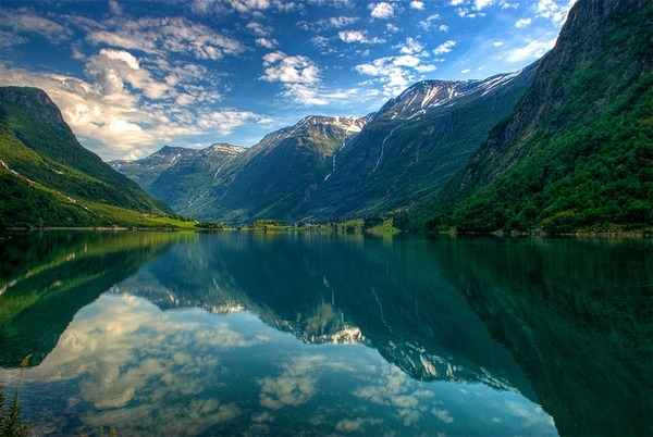 Summer Fiord, Oldedalen, Stryn, Norway