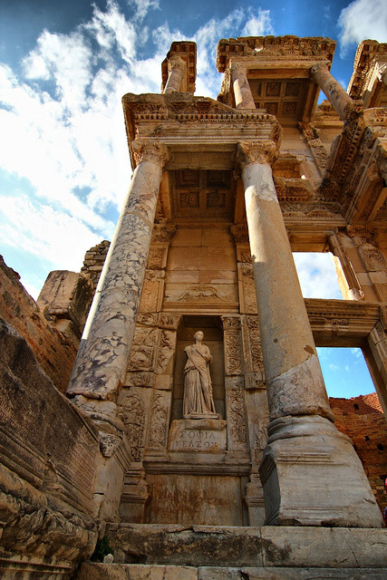The Library of Celsus in Ephesus, Izmir Province, Turkey