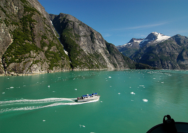Inside Tracy Arm Fjord in Alaska, USA