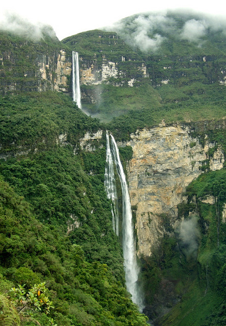Gocta waterfall near Chachapoyas in Amazonas, northern Peru