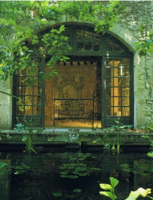 17th Century House and Pond, France