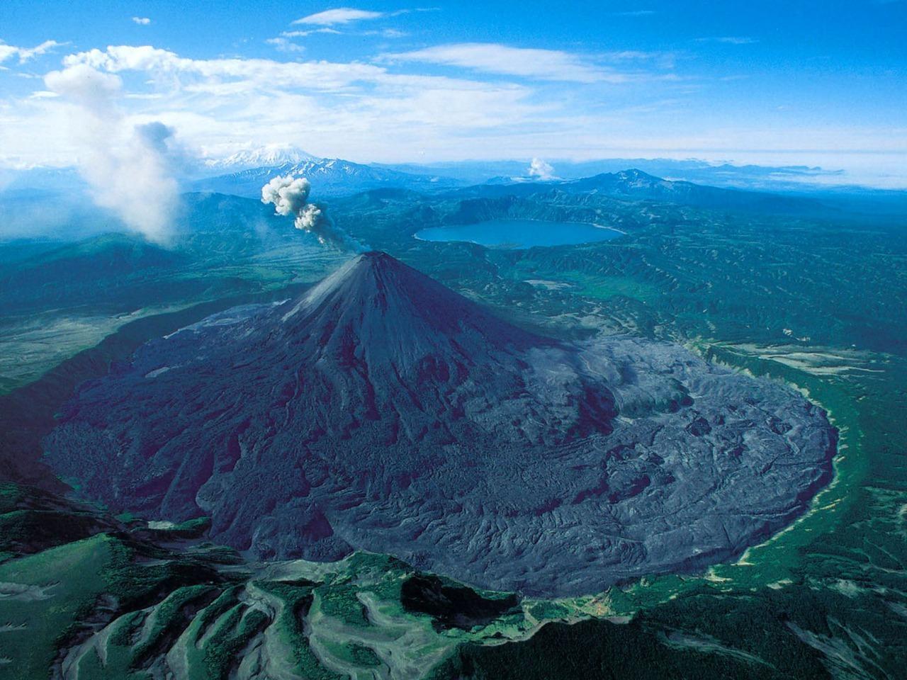 Karymsky Volcano in Kamchatka Peninsula, Russia.