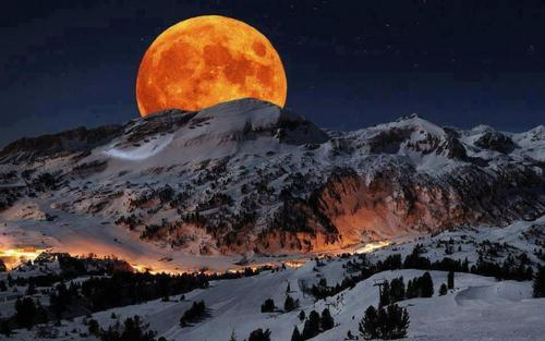 Moonrise, Sequoia National Park, Sierra, Nevada
