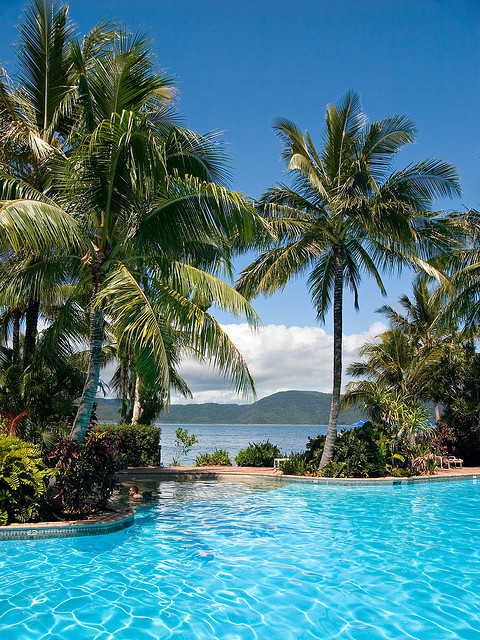 South End Pool on Daydream Island Resort, Whitsunday Islands, Australia