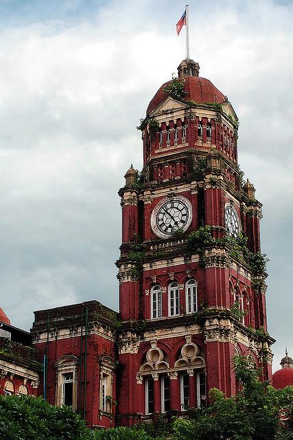 British colonial heritage in Yangon, Myanmar
