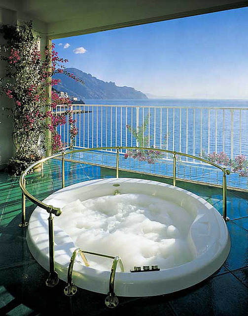 Private Whirlpool at Hotel Santa Caterina on Amalfi Coast, Italy