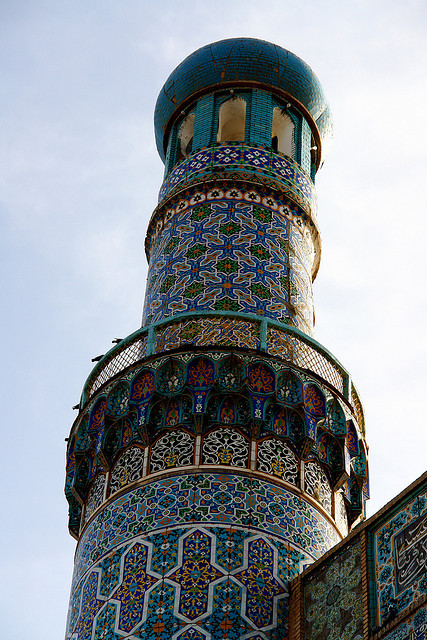 Colorful minaret of the Jam-e-Masjid in Herat, Afghanistan