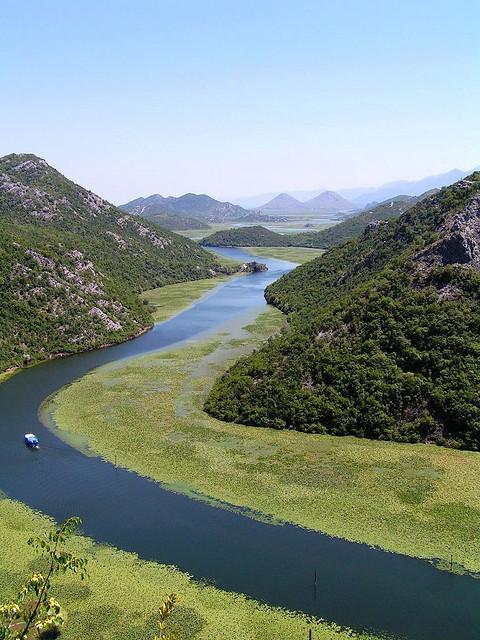 Skadar Lake near Rijeka Crnojevica in southern Montenegro