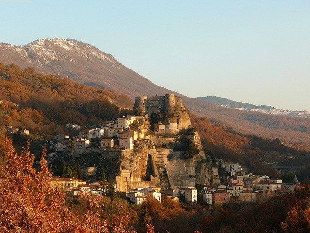 The medieval village of Cerro al Volturno in Molise, Italy
