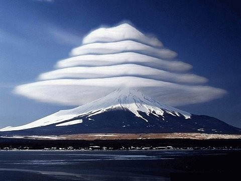 Lenticular Clouds, Mount Fuji, Japan