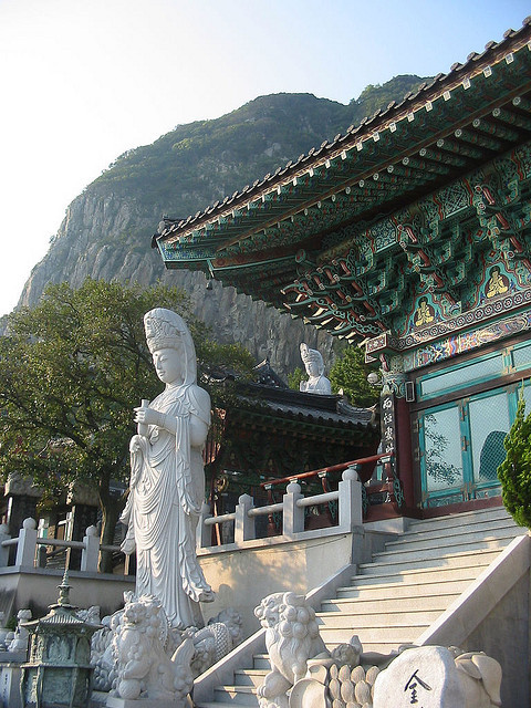 Buddhist temple in Jeju Island, South Korea