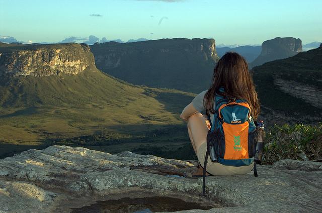 Admiring the view, Chapada Diamantina National Park, Brazil