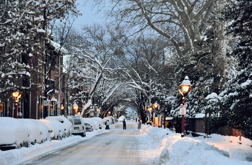 Snowy Night, Philadelphia, Pennsylvania
