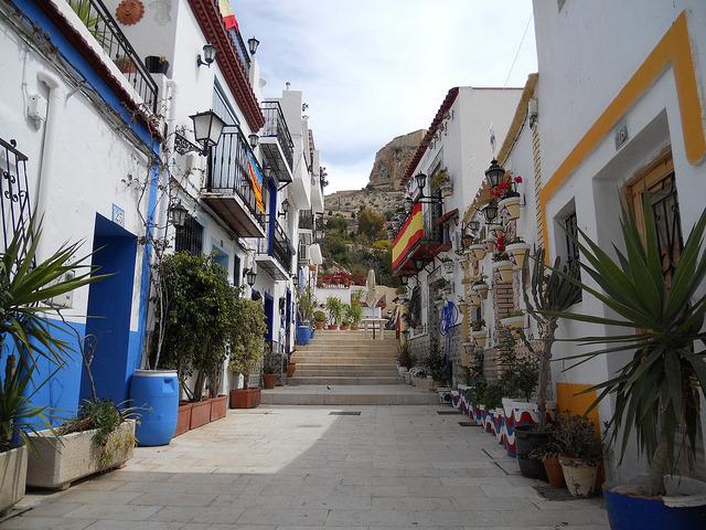 Santa Cruz District in Alicante, Spain